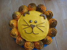 lion cake/ cupcakes