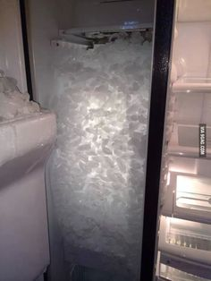 This is what happens when you forget to put the ice tray back in the freezer.