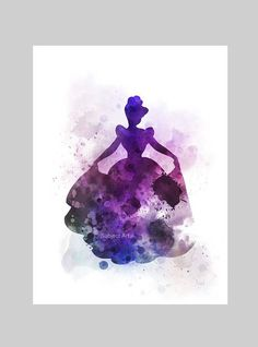 Cendrillon inspiré ART PRINT illustration Disney princesse