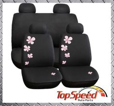 Premium-Quality-Universal-Car-Seat-Covers-8-Piece-Aloha-Pink