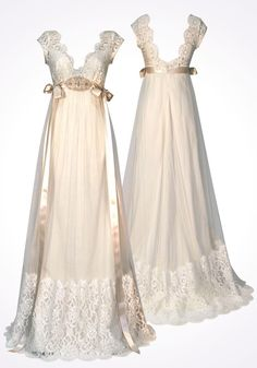 Claire Pettibone Queen Annes Lace dress white ivory vintage style 1920s 20s sheath