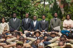 "David Oyelowo (back row, center) stars as Martin Luther King Jr. in Ava DuVernay's ""Selma."""