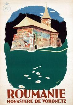 Original Vintage Posters -> Travel Posters -> Romania - Voronetz Monastery - AntikBar