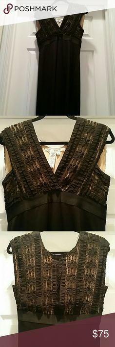 Max Studio Sleeveless Dress Max Studio Black sleeveless dress.  Empire wasit. Bodice is black lace with tan underlay. Max Studio Dresses