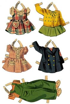 Sally paper doll clothes