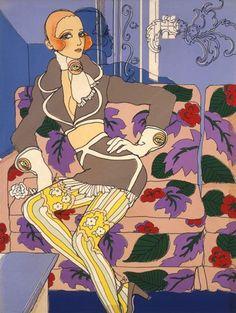Fashion illustration by Antonio Lopez, 1970s. #illustration #vintage #donneVincenti