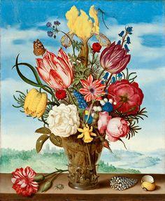 Ambrosius Bosschaert  Bouquet of Flowers