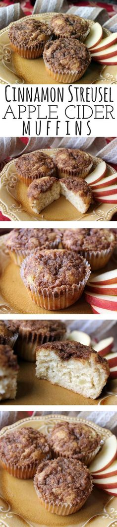 The streusel topping is what turns this from a good apple muffin recipe to a great apple muffin. The muffin itself is moist with a very mild flavor from the apples. But that streusel... oh my. Full of cinnamon, it bakes to a nice sugary crunch and really complements the apple flavors in the muffin. Just delicious! #applerecipes #fallrecipe #muffin
