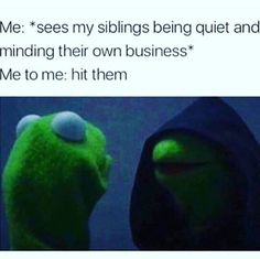 Siblings Can Drive You Crazy Funny And Relatable Growing Up With Siblings Pics-Memes Siblings Can Drive You Crazy If you ever grew up with siblings you know the ups and downs that y Funny Quotes, Funny Memes, Hilarious, Jokes, Kermit, Growing Up With Siblings, College Humor, Just For Laughs, Funny Posts