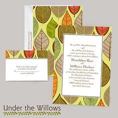 Rustic Leaves - Limelight - Invitation