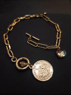 #bransoletka #srebro #moneta #kryształkiSwarovskiego #Swarovski #biżuteriamodna #margotstudio Jewelry Design, Charmed, Bracelets, Bracelet, Bangles, Bangle, Arm Bracelets, Super Duo