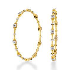 Diamond Fancy bangles 2.53ct. in 18kt. gold-J1324