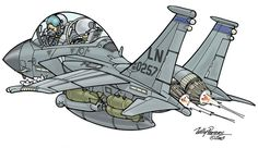 F-15E Strike Eagle Cartoon by Willy Peeters