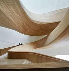 Harbin Opera House - Picture gallery #architecture #interiordesign #curves #wood #staircases