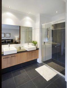 bathroom brown Ideas For Bathroom Dark Brown Tile Floor Marble Bathroom Floor, Wood Bathroom, Grey Bathrooms, Bathroom Renos, Bathroom Layout, Bathroom Colors, Bathroom Interior Design, White Bathroom, Bathroom Flooring