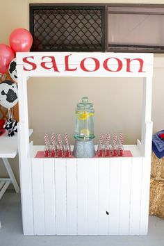 Boy's Toy Story Themed Birthday Party Drink Station Ideas
