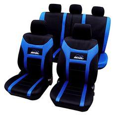 WOLTU AS7260 Couverture de siège de voiture ,housses de siège universelle polyester,motif «super speed»,Noir Bleu: WOLTU Ensemble de…