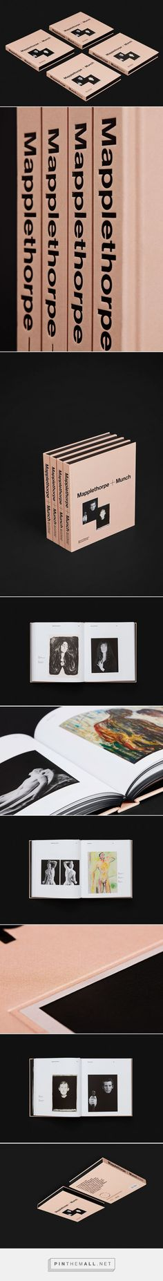 It's Nice That | A flesh-pink catalogue designed by Snøhetta for Mapplethorpe+Munch exhibition in Oslo... - a grouped images picture - Pin Them All
