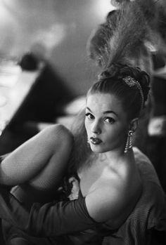 greeneyes55:  Copacabana Night Club Dancer New York 1953. Photographer unknown