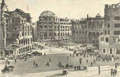 Potsdamer Platz , Berlin, 1946, im Hintergrund mit Kuppel die Ruine des Haus Vaterland Quelle: Ansichtskarte