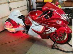 Suzuki Motorcycle, Motorcycle Design, Bicycle Design, Custom Street Bikes, Custom Sport Bikes, Custom Hayabusa, Wooden Bicycle, Bicycle Painting, Suzuki Hayabusa