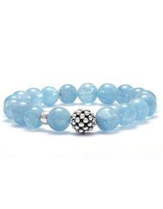 LAGOS Jewelry Aquamarine Bead Bracelet