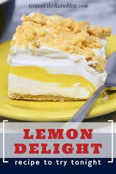 Lemon Lush Dessert, Lemon Dessert Recipes, Jello Recipes, Lemon Recipes, Oreo Desserts, Easy Desserts, Delicious Desserts, Homemade Shortbread, Cookies