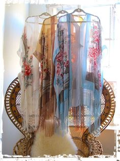 Kimono made from two scarves