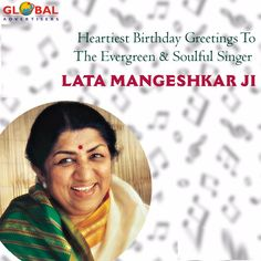 Warmest Birthday Wishes to @mangeshkarlata  the True Nightingale of India. #latamangeshkar