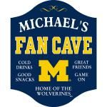 Michigan Wolverines Fan Cave Sign - Personalized