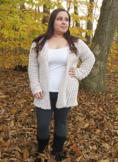 Comfy Cozy Oversized Crochet Cardigan Pattern - Poppy Cardigan - Maria's Blue Crayon