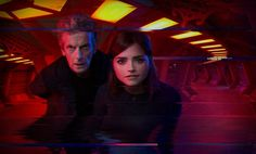 The Doctor and Clara stare straight into the camera in this 'found footage' image from Doctor Who series nine episode nine, written by Mark Gatiss and starring Peter Capaldi, Jenna Coleman and Reece Shearsmith Doctor Who Tv, Doctor Who Season 9, Doctor Who Series 9, Doctor Who Episodes, Watch Doctor, First Doctor, Tv Episodes, Sleep No More, Terrifying Stories