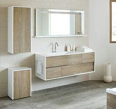 Idée décoration Salle de bain Tendance Image Description The guest bathroom utilizes a simple Ikea vanity custom painted to the perfect shade of green and features leather hardware from the Australian company Made Measure. Bathroom Shelves Over Toilet, Bathroom Windows, Bathroom Shower Curtains, Washroom, Bad Inspiration, Bathroom Inspiration, Scandinavian Bathroom, Wood Vanity, Ikea Vanity
