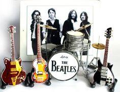 The Beatles Fab Four Miniature Guitar and Drums Set of 4 Super Mini by Beat MGU, http://www.amazon.com/dp/B00CF2FMO0/ref=cm_sw_r_pi_dp_RZ4Prb16WXEE7