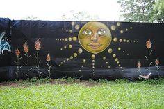 Sun Fence Mural