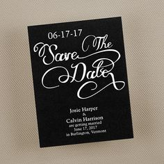 Script Save the Date - Black or Choose your color - Save the Date - Wedding Ideas