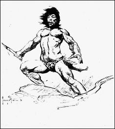 Frazetta tarzan pencil