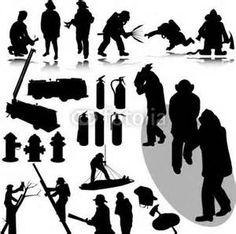 firefighter silhouette - Bing Images