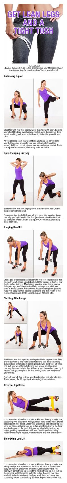 10 Best Exercises For Toning the Butt, Thighs and Legs - EFM