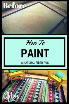 Give an Old Rug New Life by Painting It!