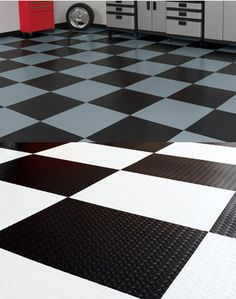 Better Life Technologies 24in. RaceDay Levant Peel & Stick Garage Floor Tile - Flooring - The Garage Store