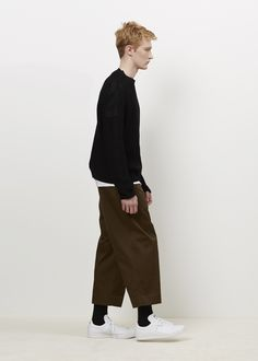 Totokaelo MAN - Marni Olive Garment Washed Wide Leg Pant