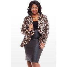 Draped Leopard Jacket