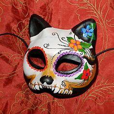 Google Image Result for http://i.ebayimg.com/t/Day-Dead-Mask-Skull-Kitty-Cat-Dia-los-Muertos-Pushing-Up-Daisies-/00/s/MTQ4NlgxNDg1/%24T2eC16dHJG!E9nm3rI5SBQM7f0qfK!~~60_35.JPG