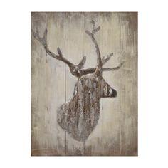 Rustic Deer Silhouette Wooden Plaque | Kirklands$50