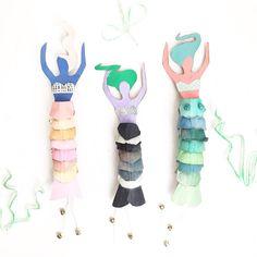 Meerjungfrauen aus Eierkartons. Auf das Bild klicken und ihr seht, wie es gemacht wird!