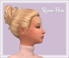 "stephanine-sims: "" Raven Hair~  Hello~! Who doesn't love a messy bun?! I put the messy bun of the laundry pack on a different base so there's no headband anymore :-D - Comes in all standard EA..."