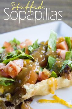 Stuffed Sopapillas | homemadeforelle.com