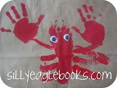 lobster footprint art Phillippo (You could get creative and do a whole beach scene with foot/handprints) Diy Projects To Try, Projects For Kids, Crafts For Kids, Arts And Crafts, Paper Crafts, School Projects, Footprint Art, Handprint Art, Art N Craft