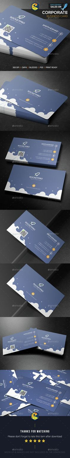 Rocket Business Card - Corporate Business Cards